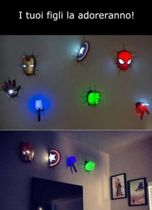 Lampada 3D Supereroi