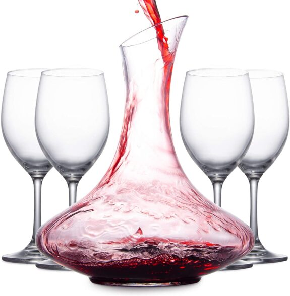 Decanter per Vino con Calici