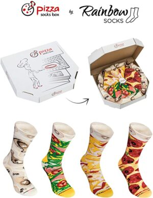 Rainbow Socks - Pizza