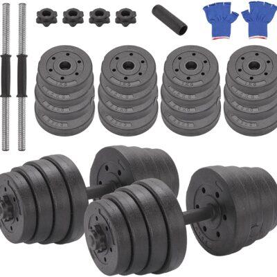 set di 30 kg di pesi regolabili