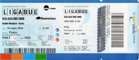 Biglietto per Concerto