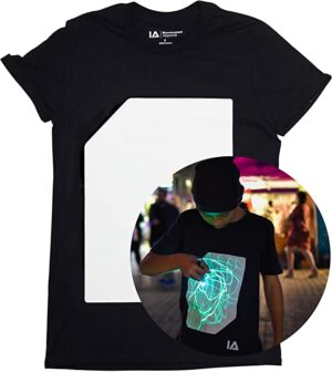 T-Shirt Fluorescente Interattiva