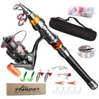 Canna da pesca telescopica con accessori